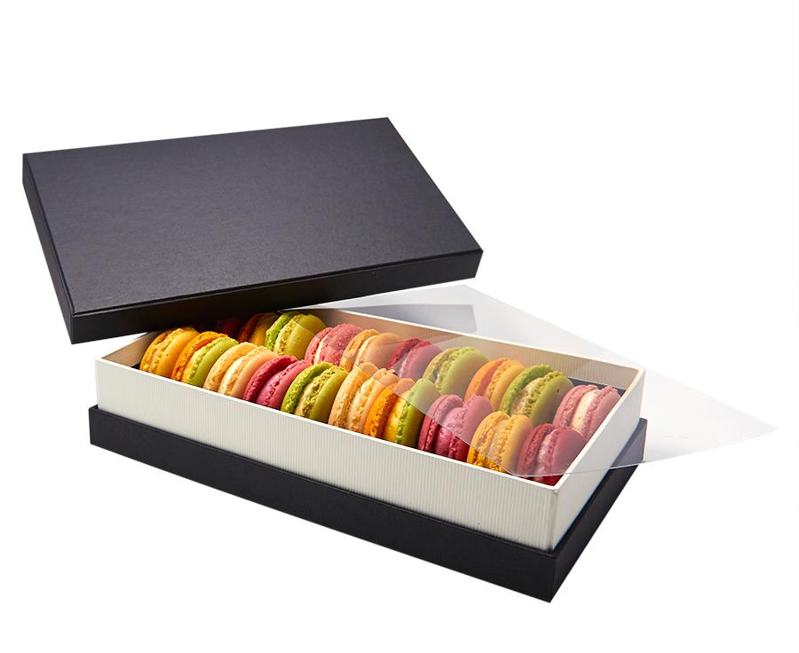 macarons die franz sische spezialit t mit ihrem text oder logo geschenkpackungen. Black Bedroom Furniture Sets. Home Design Ideas